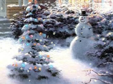 snow falling on winter scenes free screensaver